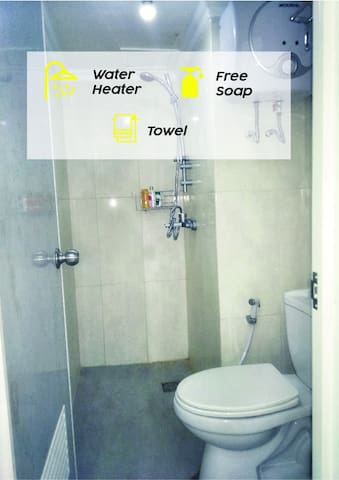 bathroom include water heater