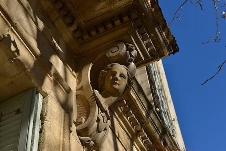 Détail de la façade de la maison