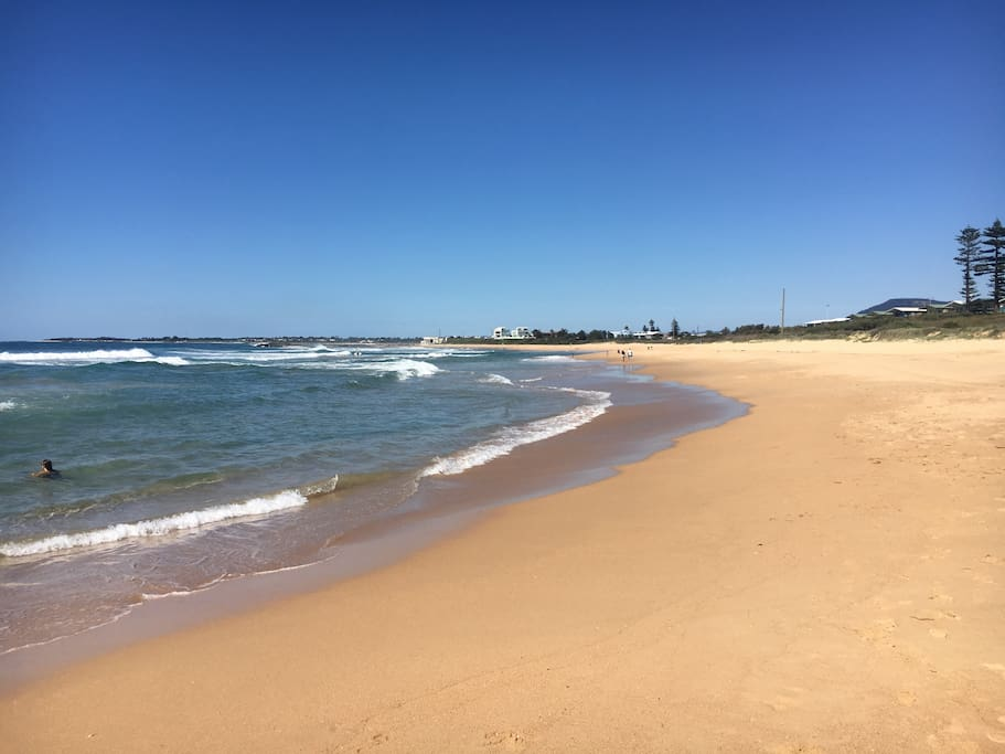 Beautiful beach walks only 59 steps away