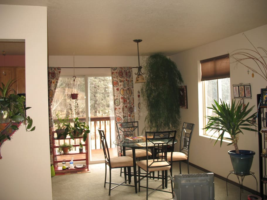 Dining Room and back upper deck