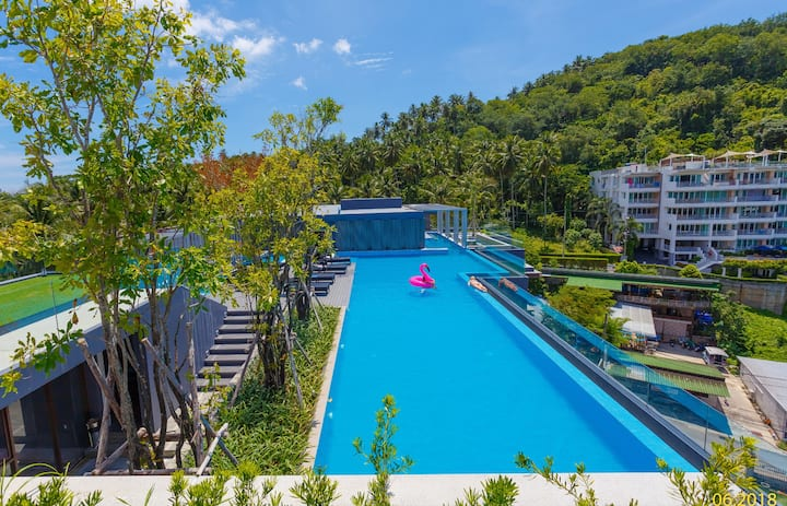 Comfy and nice apartment ❤️ Surin Beach! Pool on the roof! (614)