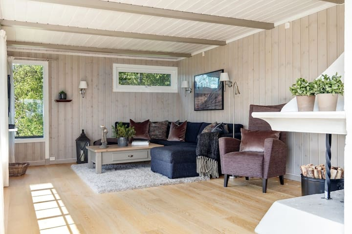 Flott hytte på Lykkja, solrikt og fint beliggende!