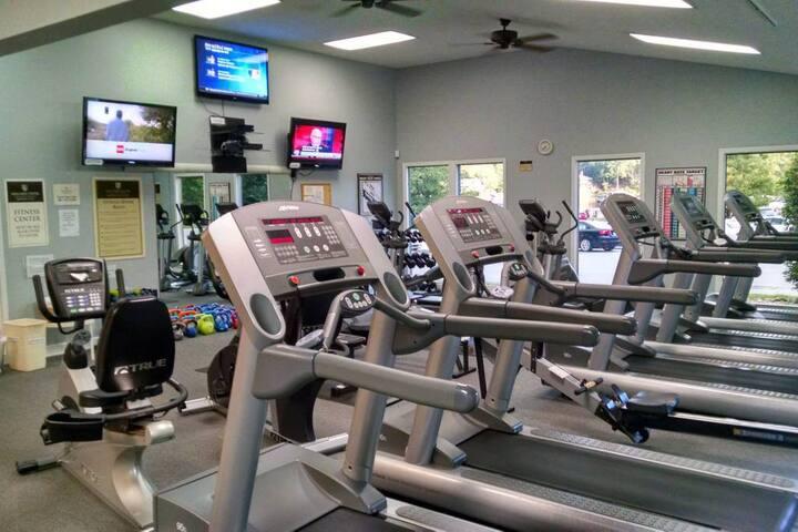 Resort's fitness facility
