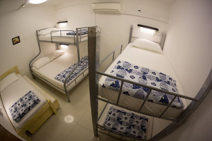 Private room- 6 bed (Shared toilet)
