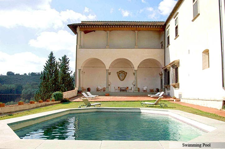 In the heart of Tuscany, Renaissance Villa with pool and views, Chianti and Sienna