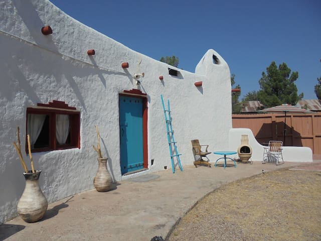 Casita at Church near Hatch NM