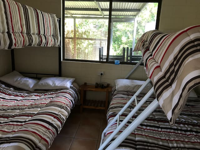Second bedroom (2 bunk beds, double on bottom - one a futon)