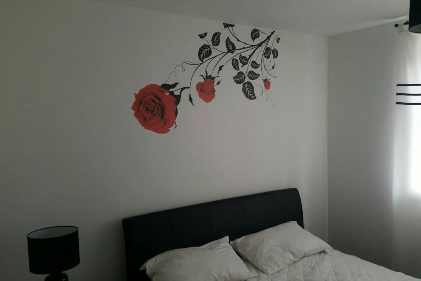 Mural over the King size  bed.  This bedroom is at the front of the apartment