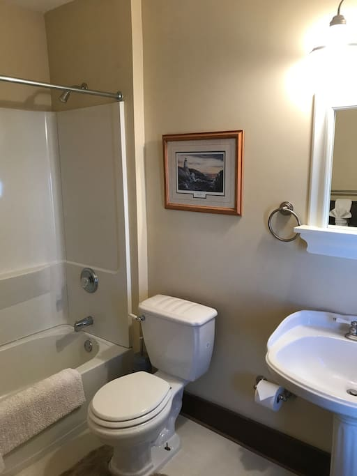 Private Full Bathroom with Tub and Shower