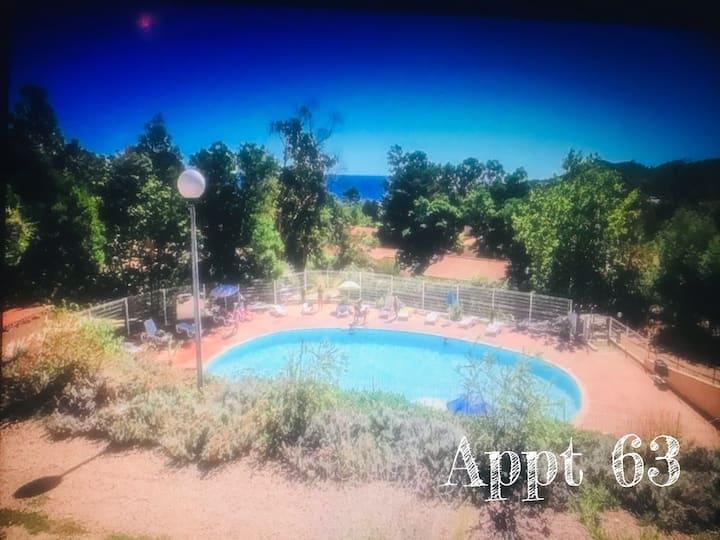 Mini villa 7 pers-plage à 2mn a pied-piscine