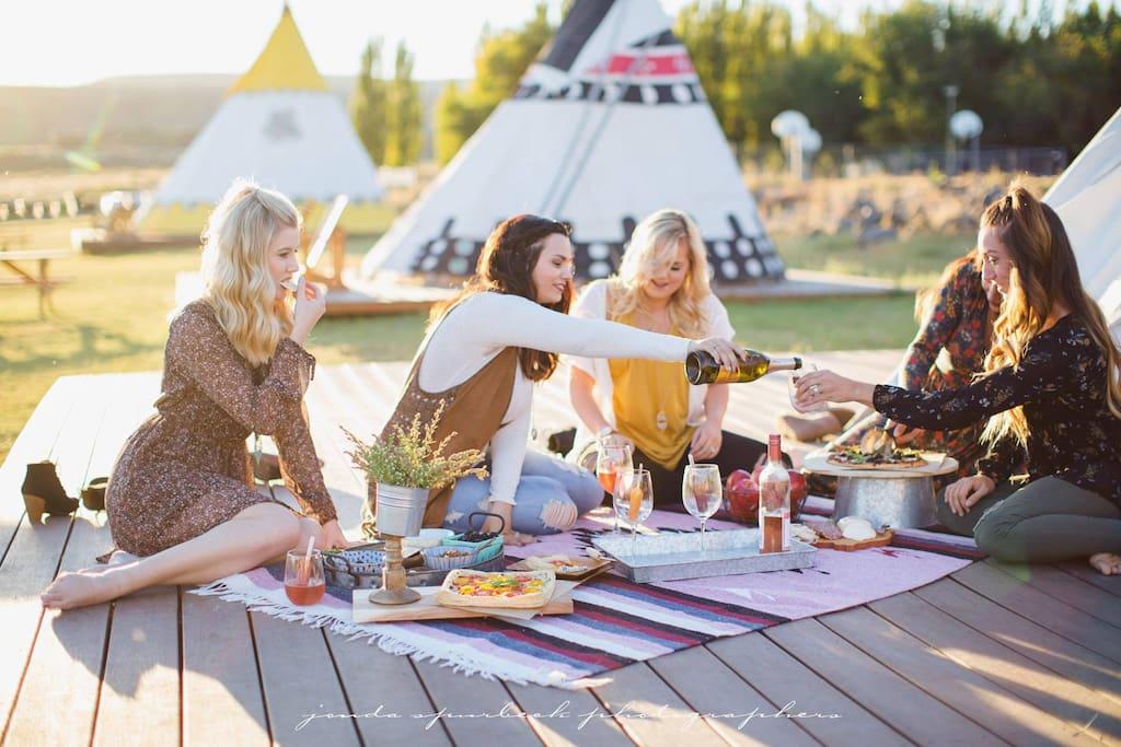 Lakefront Tipis Tipis For Rent In Soap Lake Washington