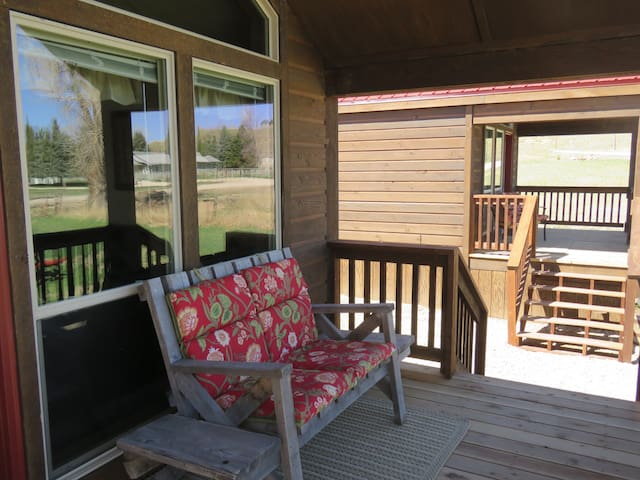 East facing porch