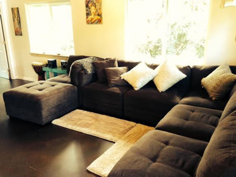 Roomy and comfy sectional couch in main living space