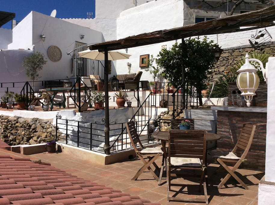 Andalusian Hideaway Terrace. The two houses sharing this amazing facility