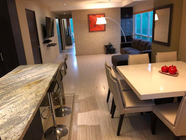 Hermoso departamento 120 mts en lujoso condominio