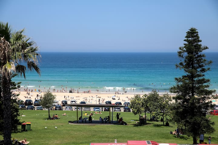 136 Campbell parade Right at the beach in best location in bondi beach  .