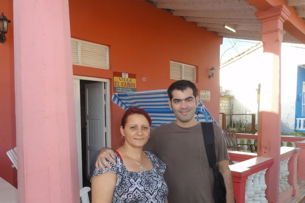 My friend Idania, your host in Viñales, and me!