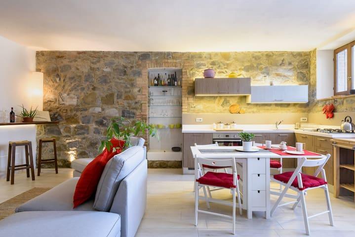 Giove's cosy home in Montalcino - Montalcino - Byt