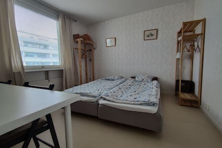 Clean room between town and airport A