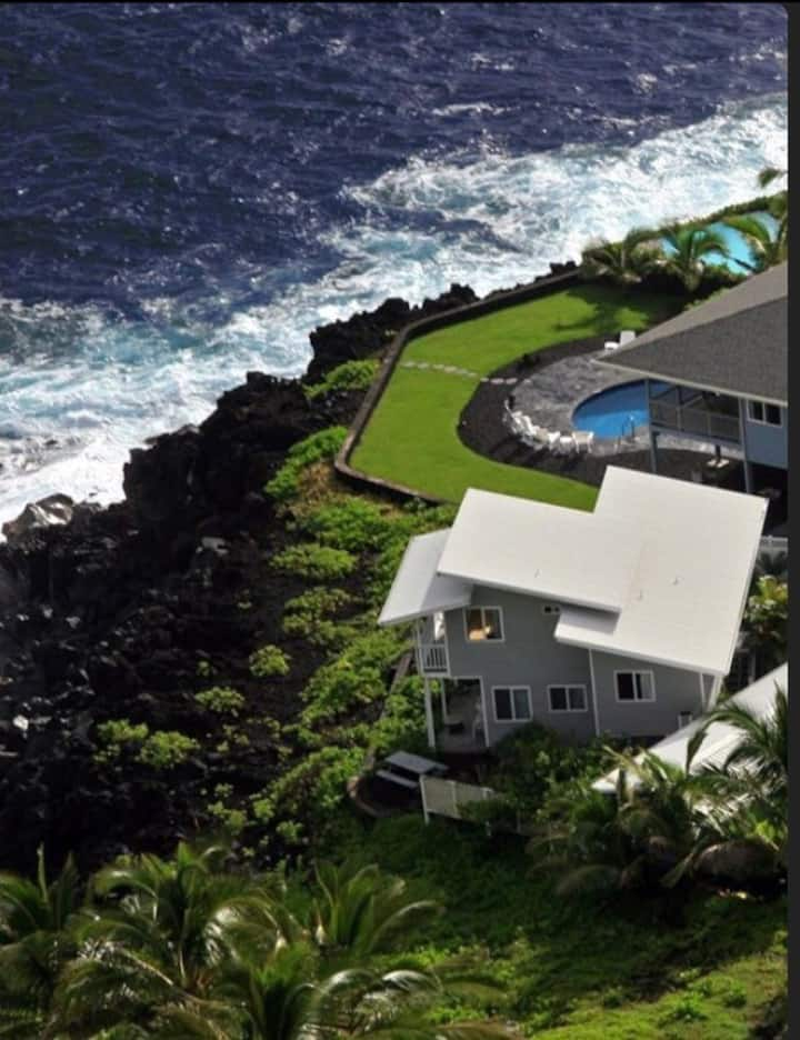 Kai Honu Hale 3-level Hawaii Oceanfront Home