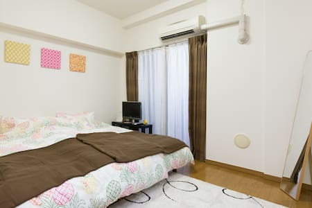 Osaka 1 min STA nr Shinsaibashi Easy→Namba TV+WiFi - Apartment
