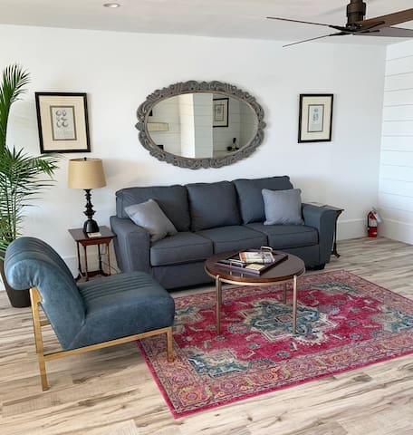 Unwind in the comfy living area