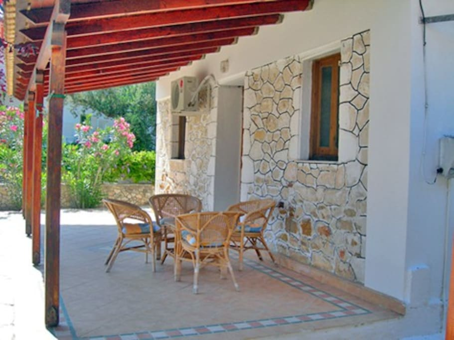 The veranda of Irini's house.