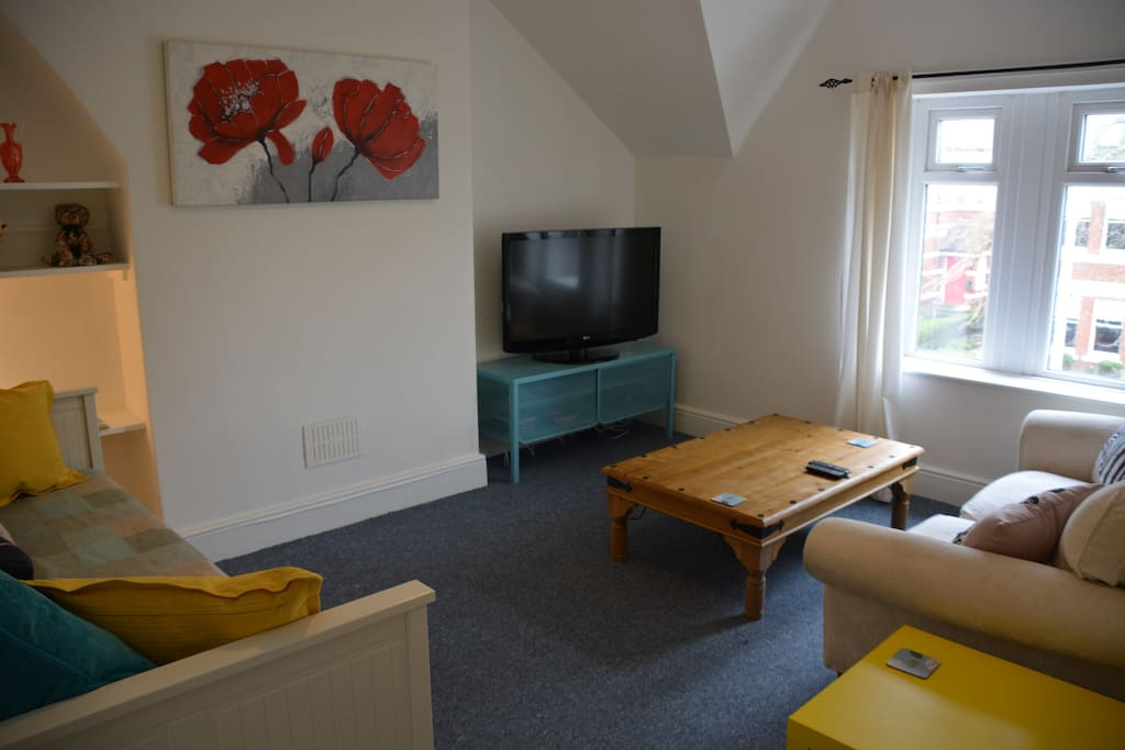 Large Trendy Lounge with Sofa Bed and Freeview TV