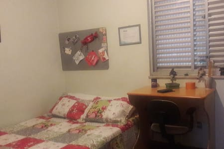 Bedroom with double bed - Belo Horizonte - Apartment