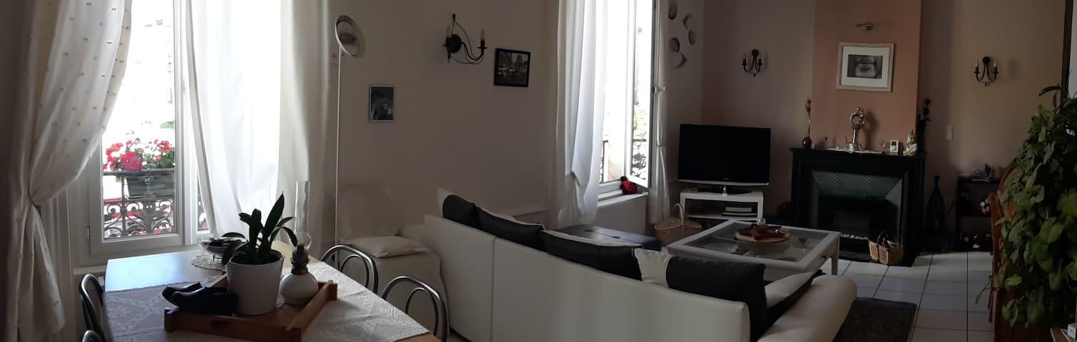 Chambre dans bel appartement proche gare et centre - Saint-Étienne - Casa de huéspedes