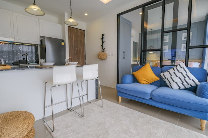 Stylish 1-bedroom apartment at Surin Beach