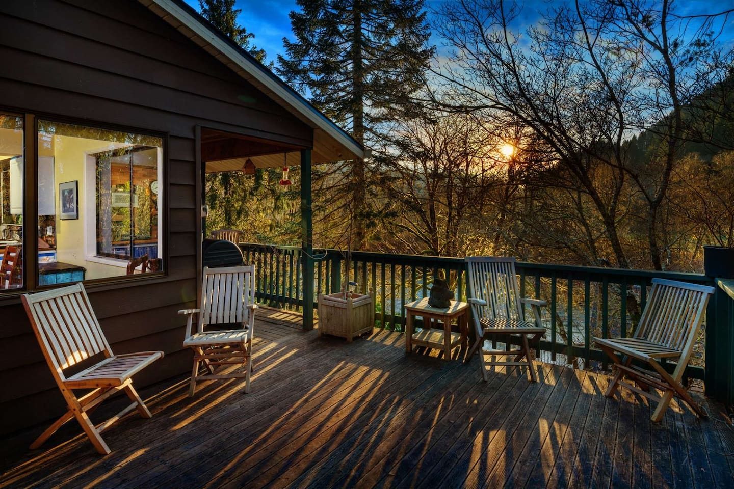 Stunning views and deck area to enjoy year round.