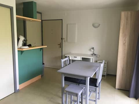 Agréable studio avec balcon Les Minimes