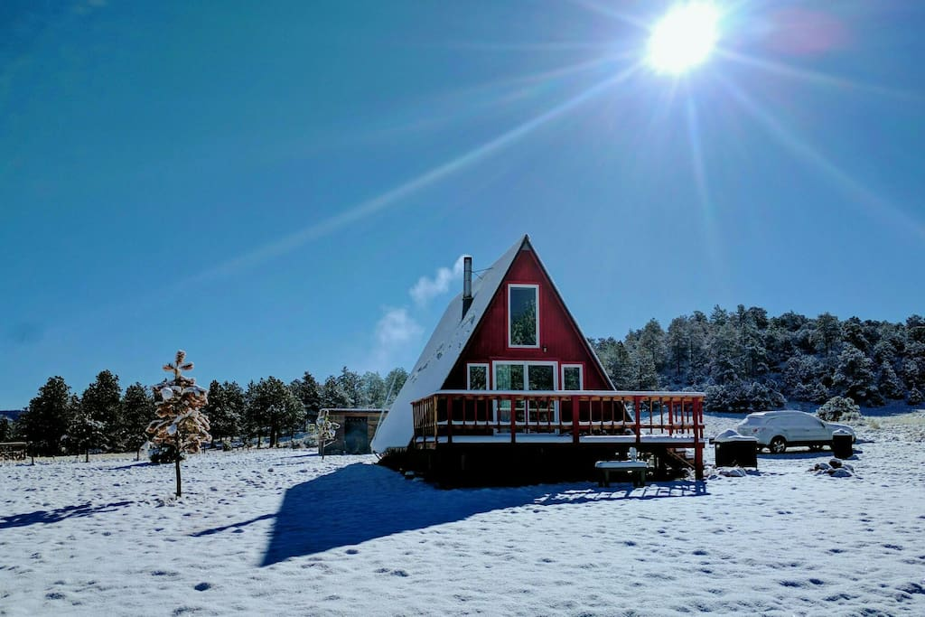 Off Grid A Frame Cabin Nestled 8 400 In Co Mtns Cabins