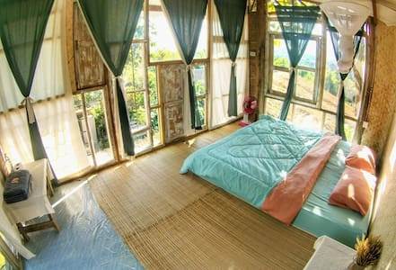Mountain view room with share bathroom - Pai - Guesthouse