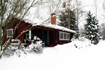 Cozy cabin near ski tracks and Romme Alpin