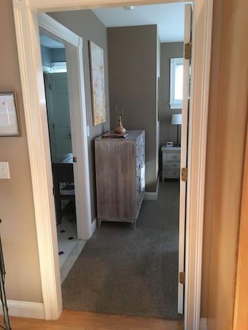 Doorway into bedroom