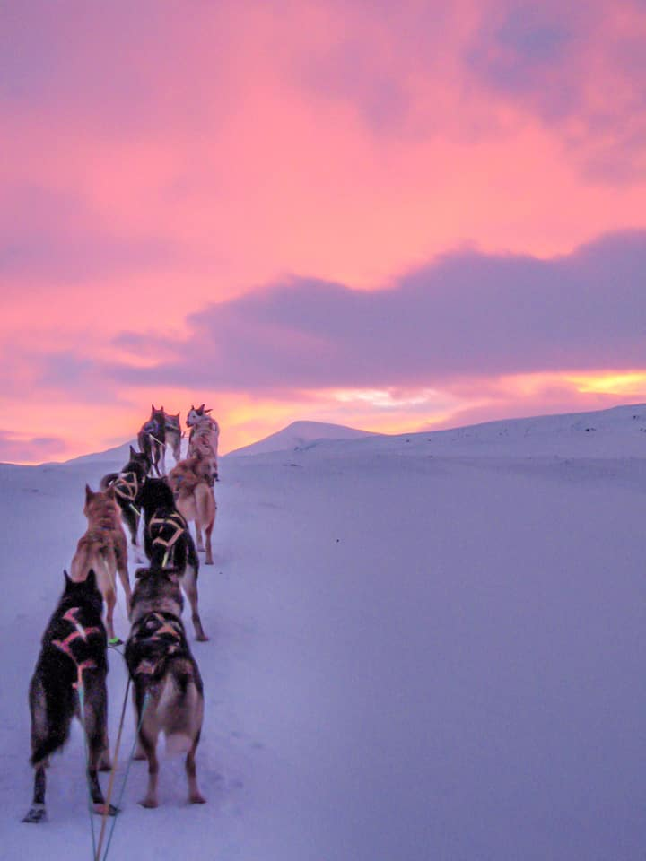 Sunset and stunning arctic landscapes