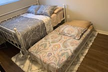 There is even a 4th trundle bed!