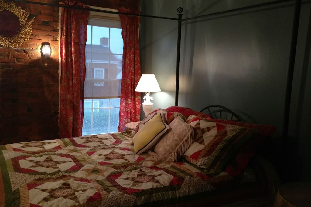 Master Bedroom with views of downtown Wilmington (Main Street)