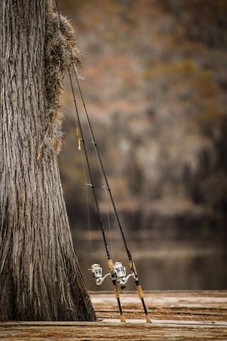 You don't have to bring fishing poles, we always have 2 available.