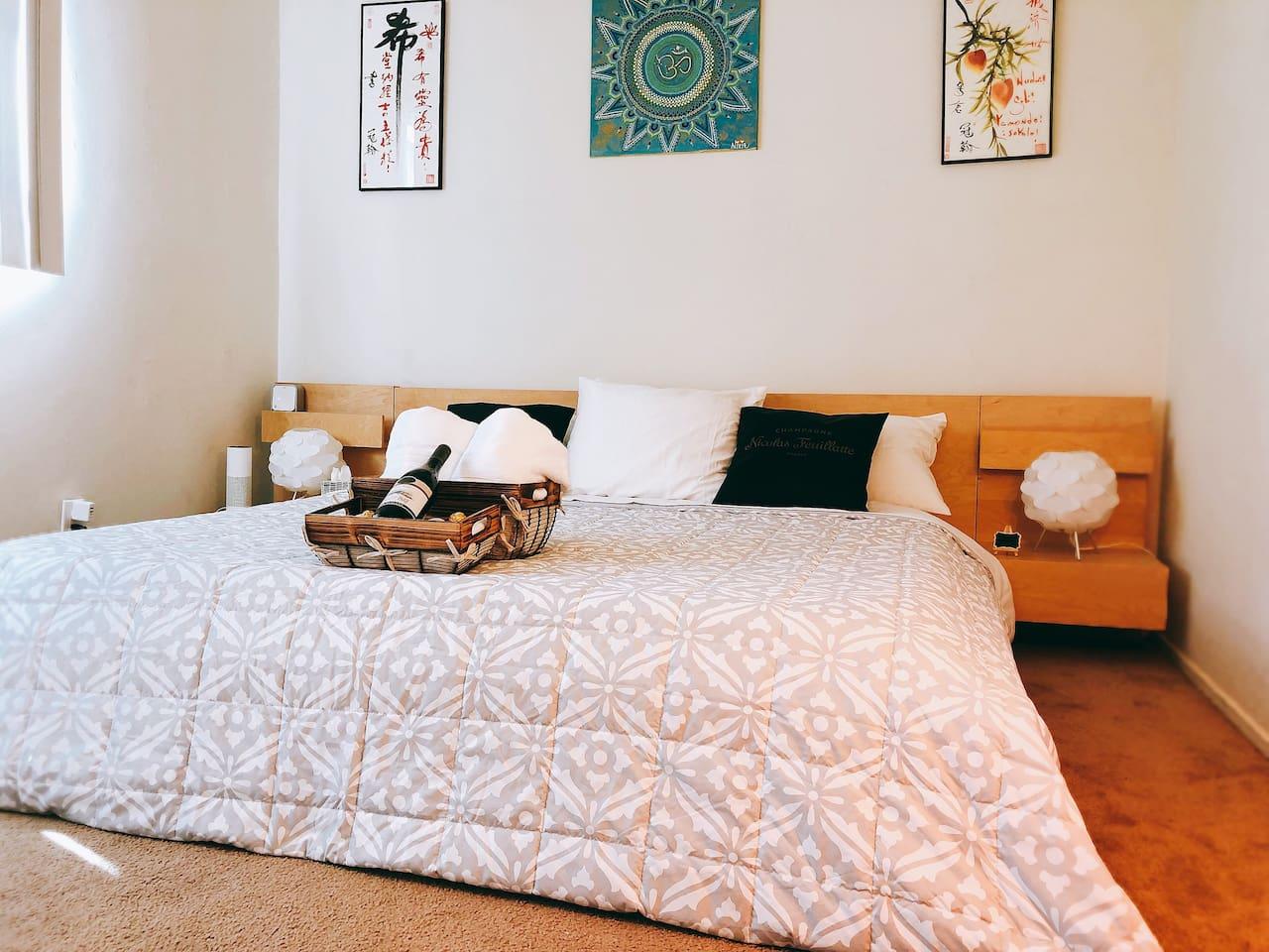 Bedroom 1 with Ba. California King Tempurpedic Mattress