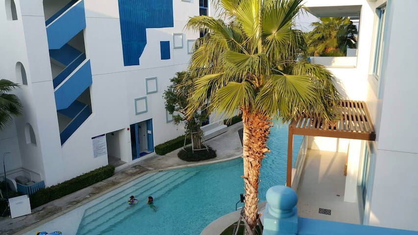 Crest Santora. Huahin sea view 1br pool access - ตำบลหัวหิน - Apartment