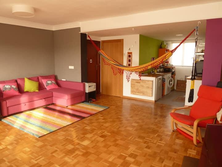Habitación doble en precioso piso en el centro