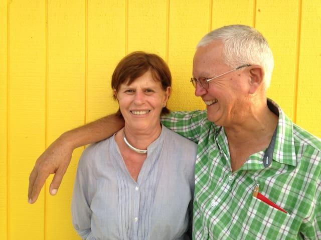 Your hosts: Marijke and Lefras OLIVIER