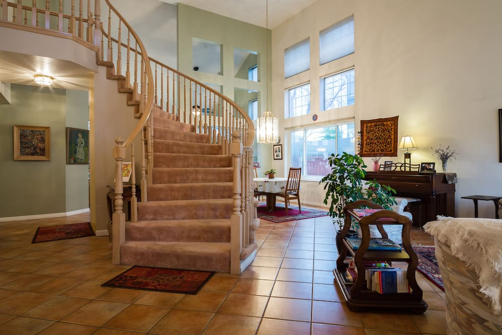 Main Floor: Entry way to dining and sitting area.