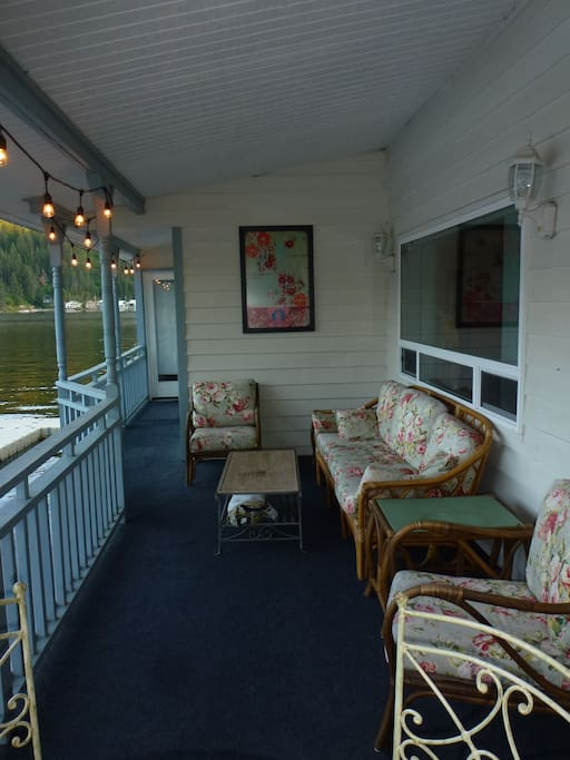 cozy front porch over the lake