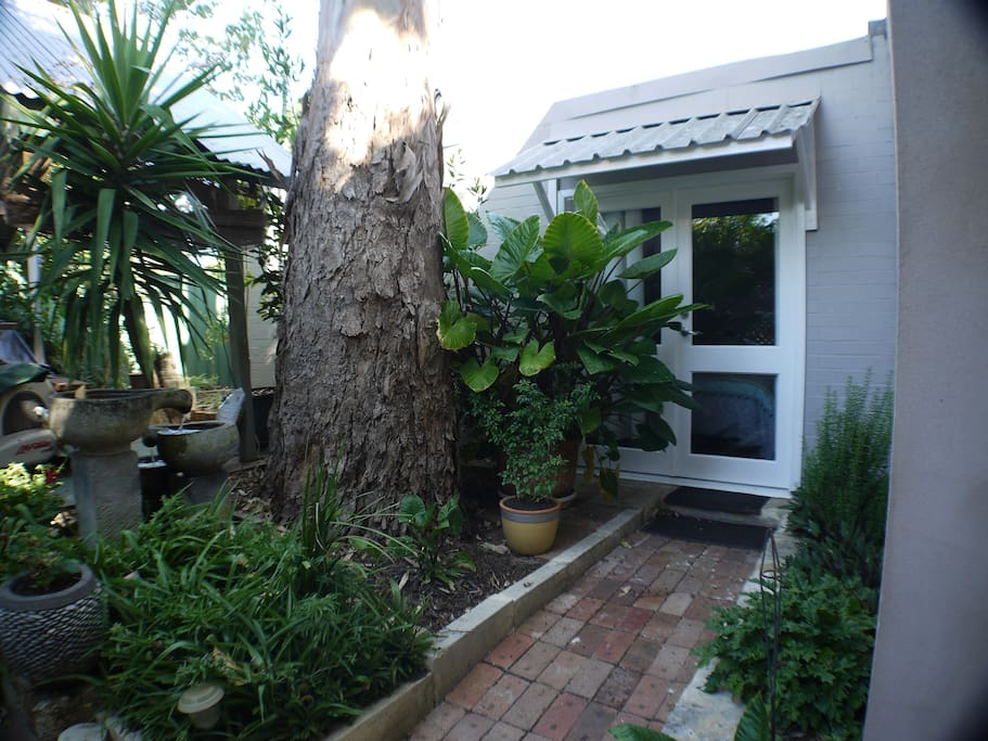 Lovely private entrance and secluded nook.