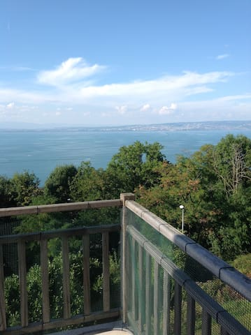 Lake View T1 Apartment with terrace Golf, Lausanne