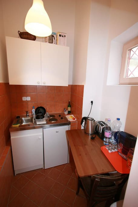 Kitchen with electric stove